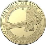 Australia 1 Dollar Alliance P.2 Endeavour 2019 THE GREAT AIR RACE 1919 ENGLAND TO AUSTRALIA ALLIANCE P.2 LT. ROGER M DOUGLAS LT. J S LESLIE ROSS coin reverse