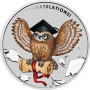 Australia 1 Dollar Graduation (Coloured) 2019 P CONGRATULATIONS! coin reverse