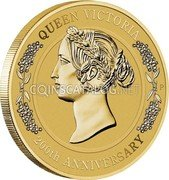 Australia 1 Dollar (Queen Victoria 200th Anniversary) QUEEN VICTORIA P 200TH ANNIVERSARY coin reverse