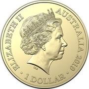 Australia 1 Dollar Vickers Vimy 2019 ELIZABETH II AUSTRALIA 2019 IRB 1 DOLLAR coin obverse