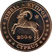 Cyprus 1 Euro Cent Probe trial prueba 2004 UNC X# Pn1 KIBRIS • ΚΥΠΡΟΣ 2004 CYPRUS coin obverse