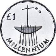 Ireland £1 Millennium Punt - Silver Pattern Strike 2000 KM# P1 £1 MILLENNIUM coin reverse