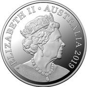 Australia 10 Cents Menura novaehollandiae 2019  ELIZABETH II AUSTRALIA 2019 JC coin obverse