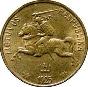 Lithuania 10 Centu 1925 KM# 73 Republic LIETUVOS RESPUBLIKA 1925 coin obverse