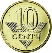 Lithuania 10 Centu 2013 In sets only KM# 106 Reform Coinage 10 CENTU coin reverse