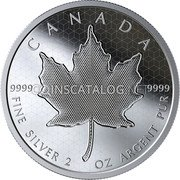 Canada 10 Dollars (2020 Canada Silver Pulsating Maple Leaf) FINE SILVER 2 OZ ARGENT PUR 9999 9999 CANADA coin reverse