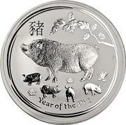 Australia 10 Dollars 4th Portrait - Year of the Pig 2019 P Perth Mint Bullion Coin YEAR OF THE PIG P coin reverse