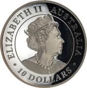 Australia 10 Dollars High Relief Silver Wedge-Tailed Eagle 2019 Proof ELIZABETH II AUSTRALIA 10 DOLLARS coin obverse