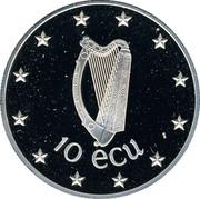 Ireland 10 ECU Irish Presidency 1990 X# 2 10 ECU coin obverse