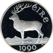 Ireland 10 ECU Irish Presidency 1990 X# 2 ÉIRE 1990 coin reverse
