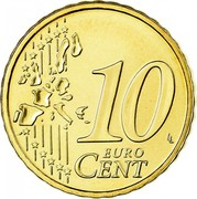 Ireland 10 Euro Cent 1st map 2006 Proof KM# 35 10 EURO CENT LL coin reverse