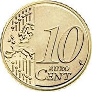Lithuania 10 Euro Cent 2015 LMK KM# 208 Euro Coinage 10 EURO CENT LL coin reverse