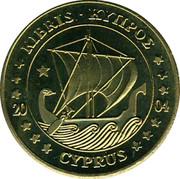 Cyprus 10 Euro Cent Trial prueba muster 2004 UNC X# Pn4 ΚΥΠΡΟΣ • KIBRIS 20 04 CYPRUS coin obverse