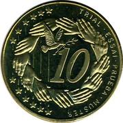 Cyprus 10 Euro Cent Trial prueba muster 2004 UNC X# Pn4 TRIAL • ESSAI • PRUEBA • MUSTER 10 coin reverse