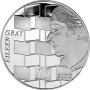 Ireland 10 Euro Eileen Gray 2016 Proof KM# 89 EILEEN GRAY 10 EURO coin reverse
