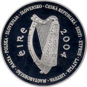Ireland 10 Euro European Union Accession 2004 Proof KM# 42 ÉIRE 2004 CESKÁ REPUBLICÁ • EESTI • KYPROS • LATVIJA • LIETUVA • MAGYARORSZÁG • MALTA • POLSKA • SLOVENIJA • SLOVENSKO • coin obverse