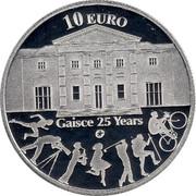 Ireland 10 Euro Gaisce 2010 Proof KM# 65 10 EURO GAISCE 25 YEARS coin reverse