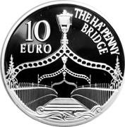 Ireland 10 Euro Ha'Penny Bridge 2017 Proof THE HA'PENNY BRIDGE 10 EURO coin reverse