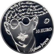 Ireland 10 Euro James Joyce 2013 Proof KM# 80.2 10 EURO JAMES JOYCE coin reverse