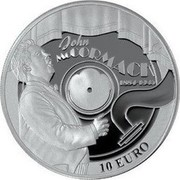 Ireland 10 Euro John McCormack 2014 Proof KM# 81 JOHN MCCORMACK 1884-1945 10 EURO coin reverse