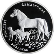 Lithuania 10 Euro Lithuanian Hound and Zemaitukas 2017 Proof KM# 229 ŽEMAITUKAS LIETUVIU SKALIKAS coin reverse