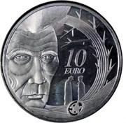 Ireland 10 Euro Samuel Beckett 2006 Proof KM# 45 10 EURO coin reverse