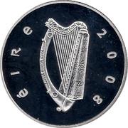 Ireland 10 Euro Skellig Michael 2008 Proof KM# 54 ÉIRE 2008 coin obverse