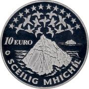 Ireland 10 Euro Skellig Michael 2008 Proof KM# 54 10 EURO SCEILIG MHICHIL coin reverse