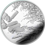 Lithuania 10 Euro Smelt Fishing by Attracting 2019 LMK Proof LIETUVA 2019 10€ coin obverse