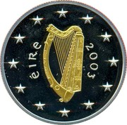 Ireland 10 Euro Special Olympics World Summer Games in Dublin 2003 Proof KM# 41 ÉIRE 2003 coin obverse