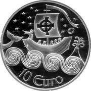 Ireland 10 Euro St. Brendan the Navigator 2011 Proof KM# 67 10 EURO coin reverse