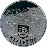 Lithuania 10 Litu Dedicated to Klaipeda 2002 Proof KM# 131 LIETUVA 10 LITŲ 2002 LMK coin obverse