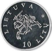 Lithuania 10 Litu Dedicated to Music 2010 Proof KM# 169 LIETUVA LMK 10 LITŲ coin obverse