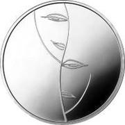 Lithuania 10 Litu Dedicated to Theatre 2011 Proof KM# 175 coin reverse