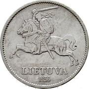 Lithuania 10 Litu Grand duke Vytautas the Great 1936 KM# 83 LIETUVA 1936 coin obverse