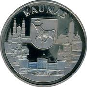 Lithuania 10 Litu Kaunas 1999 Proof KM# 116 KAUNAS coin obverse
