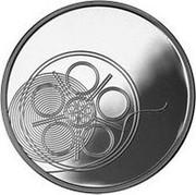 Lithuania 10 Litu Lithuanian Culture - Cinema 2014 Proof KM# 203 coin reverse