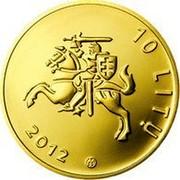 Lithuania 10 Litu Lithuanian Science 2012 Proof KM# 180 10 LITŲ 2012 LMK coin obverse