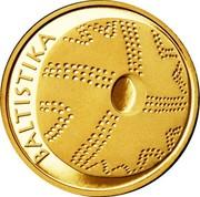 Lithuania 10 Litu Lithuanian Science - Baltistica 2014 Proof KM# 201 BALTISTIKA coin reverse