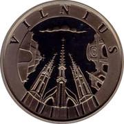 Lithuania 10 Litu Vilnius 1998 Proof KM# 115 VILNIUS coin obverse