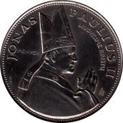 Lithuania 10 Litu Visit of Pope John Paul II to Lithuania 1993 LMK KM# 95 JONAS PAULIUS II LIUDYKIME KRISTU MCMXCIII LMK coin reverse