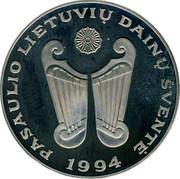 Lithuania 10 Litu World Lithuanians Song Festival 1994 LMK Proof KM# 96 PASAULIO LIETUVIU DAINU ŠVENTE 1994 coin reverse