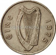 Ireland 10 Pence 1975 KM# 23 Decimal Coinage coin obverse