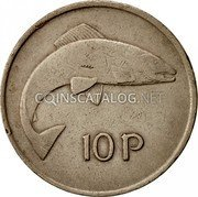 Ireland 10 Pence 1975 KM# 23 Decimal Coinage coin reverse