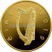 Ireland 100 Euro (Centenary of the first sitting of Dáil Éireann) 100 EURO an Chéad D ail 1919 coin obverse
