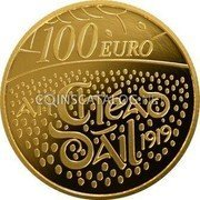 Ireland 100 Euro (Centenary of the first sitting of Dáil Éireann) EIRE 2019 coin reverse