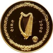 Ireland 100 Euro International Polar Year 2008 Proof KM# 57 ÉIRE 2008 coin obverse