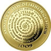 Lithuania 100 Litu 1000th Anniversary of the name Lithuania 2007 Proof KM# 158 ANNALES QUEDLINBURGENSES 1009 coin reverse