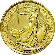 UK 100 Pounds 30th Anniversary of the Britannia 2017 30 Privy Mark BRITANNIA '2017' 1OZ '999.9' FINE 'GOLD' coin reverse