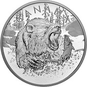 Canada 125 Dollars Primal Predators - The Grizzly 2019 CANADA coin reverse